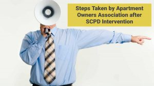 Steps Taken by Apartment Owners Association after SCPD Intervention